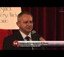 Inauguracja Uniwersytetu Trzeciego Wieku – relacja Video