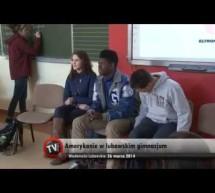 Amerykanie w lubawskim Gimnazjum- video