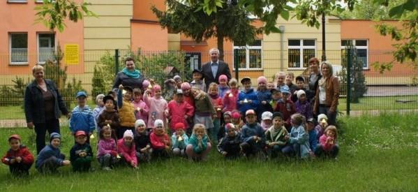 Przedszkolaki w odwiedzinach u burmistrza miasta