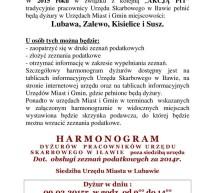 Harmonogram dyżurów w Lubawie pracowników Urzędu Skarbowego w Iławie