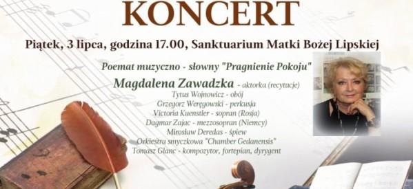 """Poemat muzyczno-słowny """"Pragnienie Pokoju"""" z udziałem aktorki Magdaleny Zawadzkiej"""