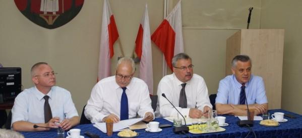 Władze województwa na spotkaniu w Lubawie