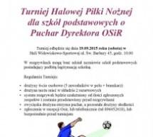 Turniej Halowej Piłki Nożnej dla szkół podstawowych o Puchar Dyrektora OSiR