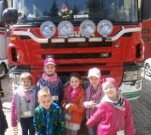 Wycieczka pierwszoklasistów do Ochotniczej  Straży Pożarnej w Lubawie