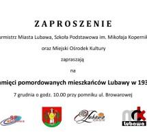 Apel pamięci pomordowanych mieszkańców Lubawy w 1939 roku