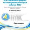 XIX Powiatowe Igrzyska Osób Niepełnosprawnych Lubawa 2017