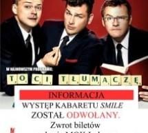 Występ kabaretu SMILE odwołany