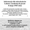 Informacja dla mieszkańców Lubawy urodzonych przed  8 maja 1945 roku