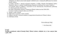 XLVII zwyczajna sesja Rady Miasta Lubawa