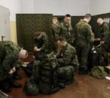 Przyjęcie żołnierzy do Wojsk Obrony Terytorialnej w Batalionie Lekkiej Piechoty Morągu