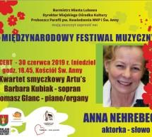 Anna Nehrebecka zakończy V Festiwal Muzyczny