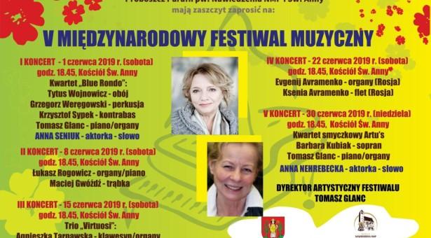 Anna Nehrebecka zastąpi Krzysztofa Gosztyłę na V Międzynarodowym Festiwalu Muzycznym