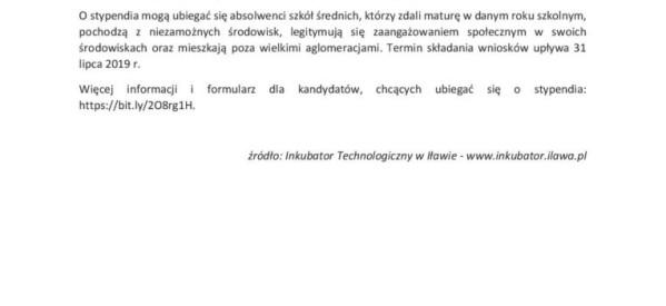 Stypendia dla studentów wydziałów związanych z informatyką i nowymi technologiami