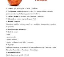 Konkurs na Najlepsze Ciasto z Jabłkiem