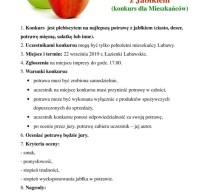 Konkurs na Najlepszą Potrawę z Jabłkiem
