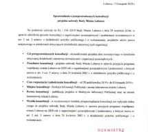 Sprawozdanie z konsultacji projektu uchwały
