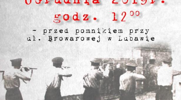 Apel Pamięci pomordowanych mieszkańców Lubawy