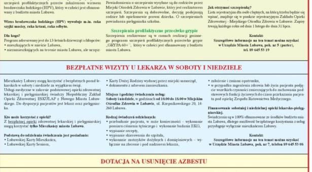 Informacje z Urzędu Miasta Lubawa