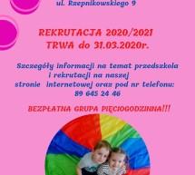 Trwa rekrutacja w Przedszkolu Miejskim