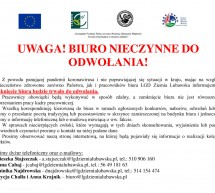 Organizacja pracy biura LGD Ziemia Lubawska