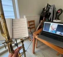 Zdalne zajęcia muzyczne Miejskiej Orkiestry Dętej