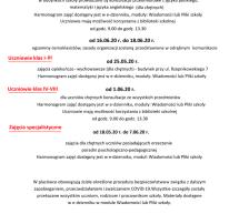 Komunikat dyrektora ws. organizacji  pracy szkoły