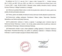 Postanowienie Komisarza Wyborczego ws. obwodów głosowania