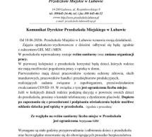 Komunikat dyrektor Przedszkola Miejskiego