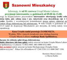 Informacja o funkcjonowaniu Urzędu Miasta Lubawa