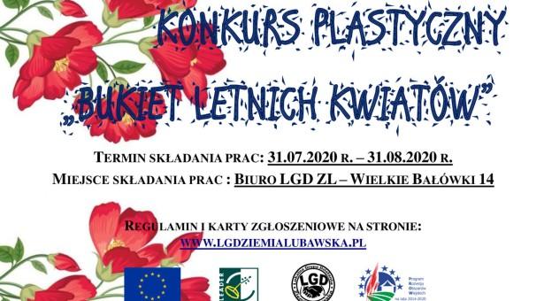 """Konkurs plastyczny """"Bukiet letnich kwiatów"""""""