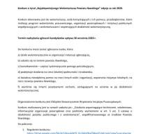 """Konkurs o tytuł """"Najaktywniejszego Wolontariusza Powiatu Iławskiego"""" edycja za rok 2020."""