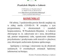 Komunikat – Przedszkole Miejskie w Lubawie