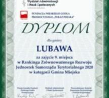 Lubawa 1. w województwie, 9. w kraju!
