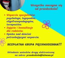 Rekrutacja 2021/2022 do Przedszkola Miejskiego w Lubawie