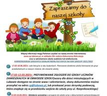 Rekrutacja 2021/2022 do Szkoły Podstawowej im. Mikołaja Kopernika w Lubawie