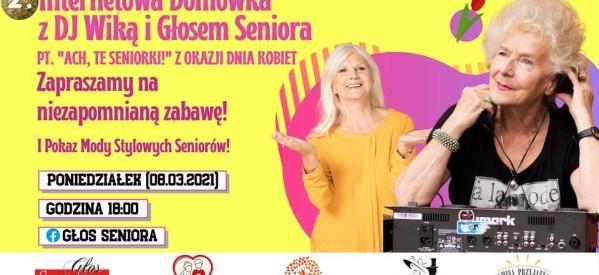 """Domówka z  DJ Wiką i  Głosem Seniora pt. """"Ach, te seniorki!"""""""