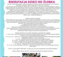 Rekrutacja dzieci do Żłobka Miejskiego w Lubawie