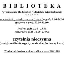 Biblioteka Miejska otwarta od 10 maja
