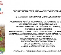 Komunikat Szkoły Podstawowej w Lubawie