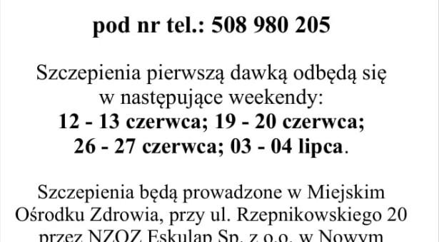 Dodatkowy punkt szczepień przeciw Covid- 19