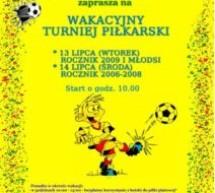 Wakacyjny turniej piłkarski