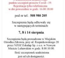 Dodatkowy punkt szczepień COVID – 19