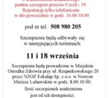 Dodatkowy punkt szczepień przeciw COVID – 19