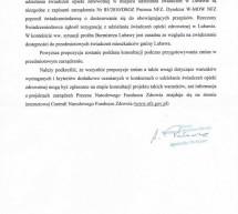 Odpowiedź Prezesa NFZ w sprawie ambulatorium w Lubawie