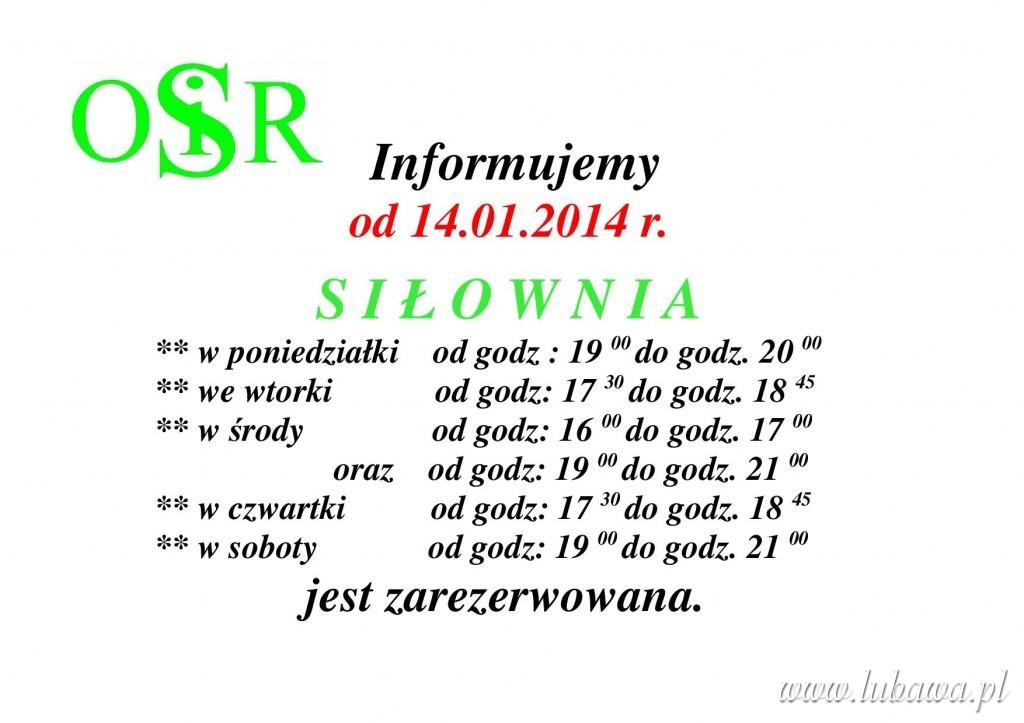 Plakat  siłowni od 14.01.2014 (3)1