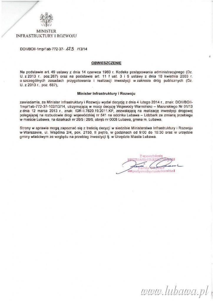 Obwieszczenie Minister Infrastruktury i Rozwoju.pdf