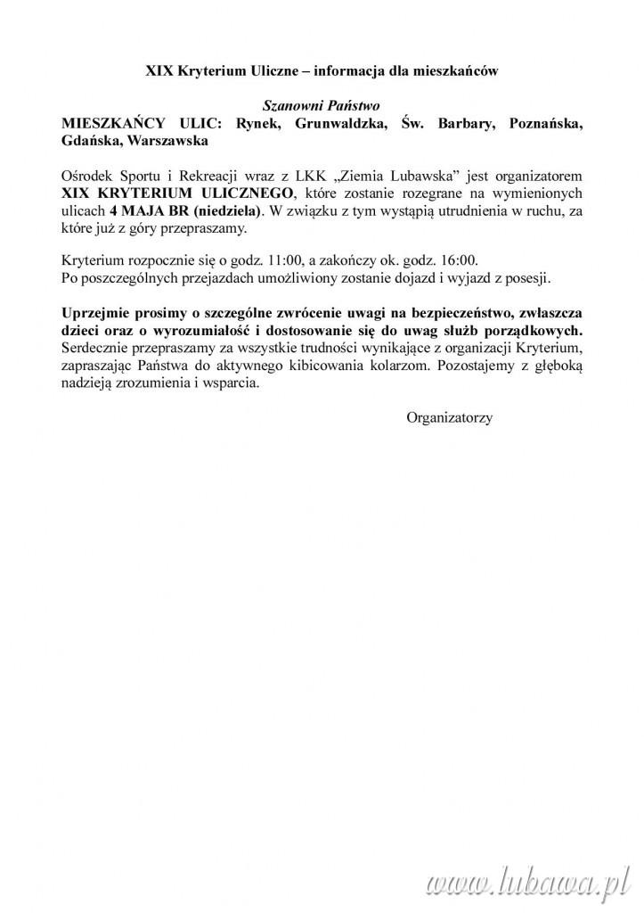 XIX_Kryterium_kolarskie-_informacja_dla_mieszkancow
