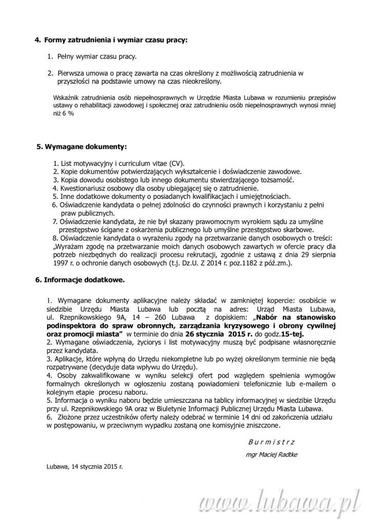 Nabór ds obrony cywilnej i promocji miasta2