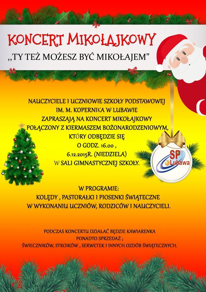 koncert mikołajkowy 2015
