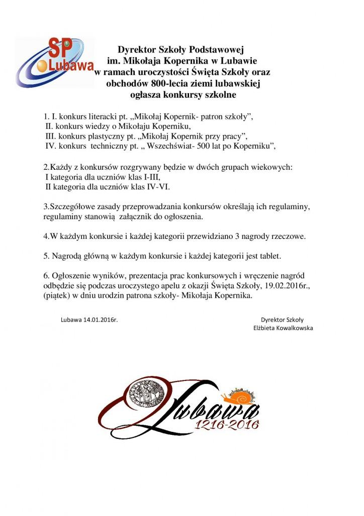 Dyrektor Szkoły Podstawowej-ogłoszenie o konkursach 2016